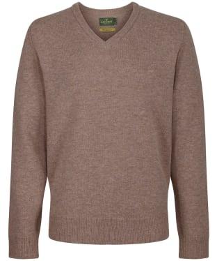 Men's Laksen Johnston V-Neck Sweater - Camel