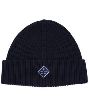 Men's GANT Cotton Rib Knit Hat - Marine