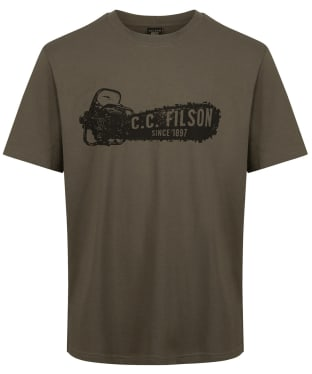 Men's Filson S/S Pioneer Graphic T-Shirt - Stone Brown / Saw