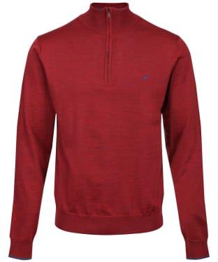 Men's Laksen Norfolk ¼ Zip Sweater - Grape
