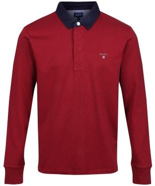 Men's GANT Original Heavy Rugby Shirt - Mahogany Red