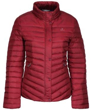 Women's GANT Light Down Jacket - Cabernet Red