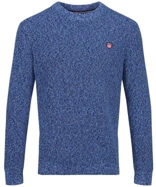 Men's GANT Multi-Colour Twisted Crew Neck Knit - Beacon Blue