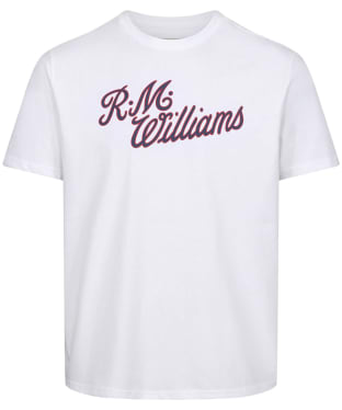 Men's R.M. Williams Script T-Shirt - White / Red