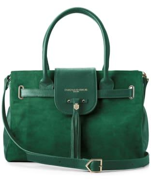 Women's Fairfax & Favor Windsor Handbag - Emerald Green Suede