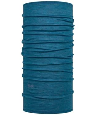 Buff Merino Lightweight Solid Necktube - Dusty Blue