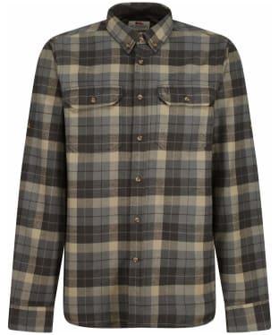 Men's Fjallraven Singi Heavy Flannel Long Sleeve Shirt - Super Grey / Stone Grey