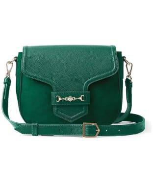 Women's Fairfax & Favor Fitzwilliam Saddle Bag - Emerald Green Suede