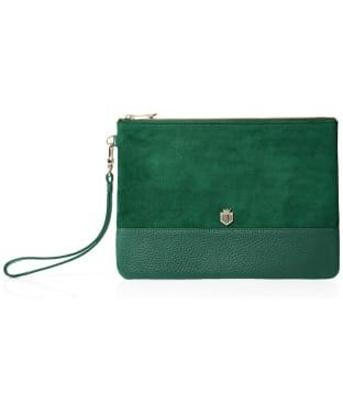 Women's Fairfax & Favor Highbury Clutch Bag - Emerald Green