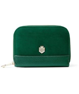 Women's Fairfax & Favor Mini Salisbury Purse - Emerald Green Suede