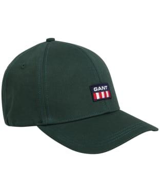 Men's GANT Retro Shield Twill Cap - Tartan Green