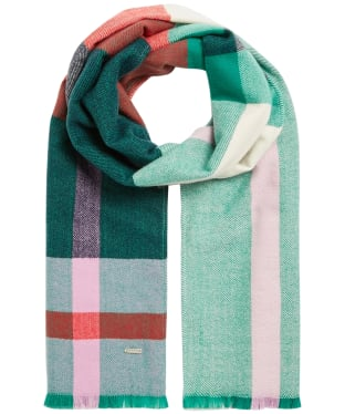Women's Joules Bridey Scarf - Navy Pink Check