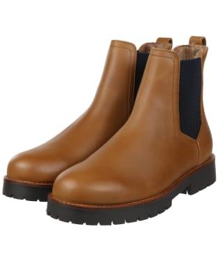 Women's Fairfax & Favor Sheepskin Boudica Ankle Boot - Oak Leather