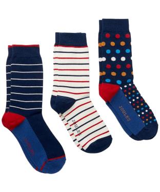Men's Joules Striking Socks – 3 pack - Multi Pack