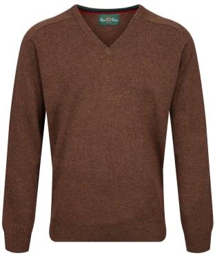 Men's Alan Paine Streetly V-Neck Pullover - Tobacco