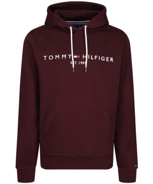 Men's Tommy Hilfiger 1985 Logo Embroidery Hoody - Deep Burgundy