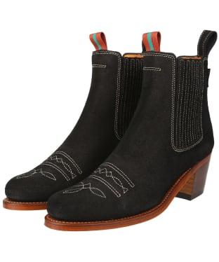 Women's Penelope Chilvers Salva Oiled Suede Boots - Black