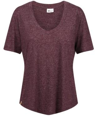Women's Tentree Hemp V-Neck T-Shirt - Mulberry
