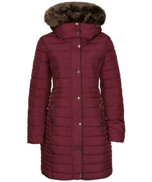 Women's Joules Cherington Padded Coat - Dark Purple