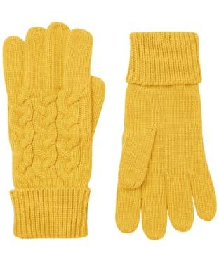 Women's Joules Elena Gloves - Antique Gold
