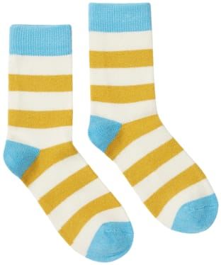Women's Joules Striped Bed Socks - Antique Gold