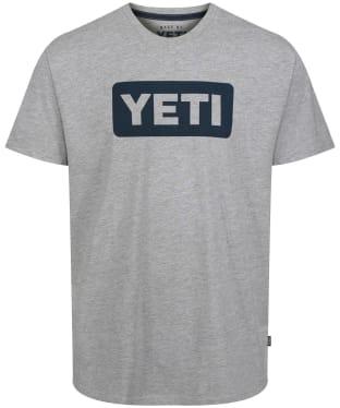 Yeti Logo Badge Short Sleeve T-Shirt - Grey / Navy