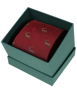 Men's Laksen Deer Tie - Vintage Red