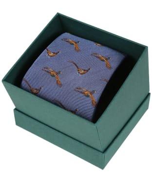 Men's Laksen Fly-By Pheasant Tie - Cornflower