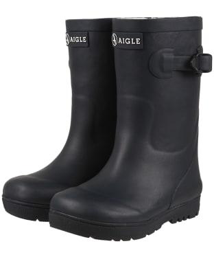 Children's Aigle Woodypop Fur 2 Boots - Marine