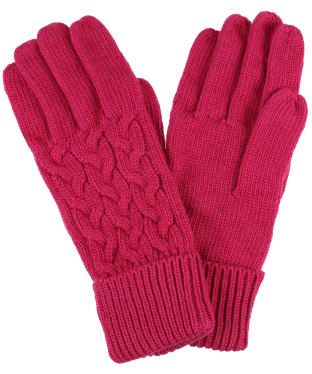 Women's Joules Elena Gloves - Ruby Pink