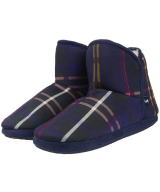 Women's Joules Cabin Slippers - Navy Multi Check