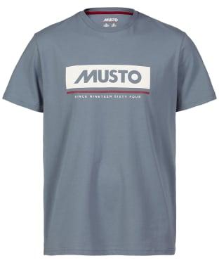 Men's Musto Marina Logo Tee - Slate Blue
