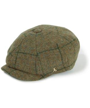 Hicks & Brown Felsham Tweed Baker Boy Cap - Green