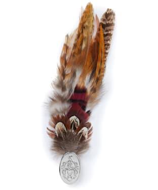 Hicks & Brown Feather Brooch – Gamebird - Silver Pin