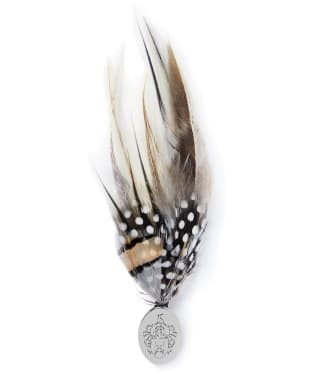 Hicks & Brown Feather Brooch – Guinea & Pheasant - Silver Pin