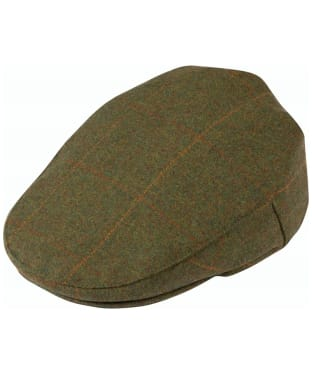 Men's Alan Paine Combrook Waterproof Tweed Flat Cap - Maple