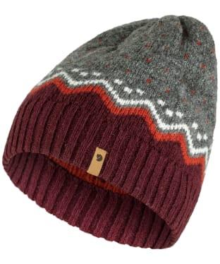 Fjallraven Ovik Knit Hat - Dark Garnet