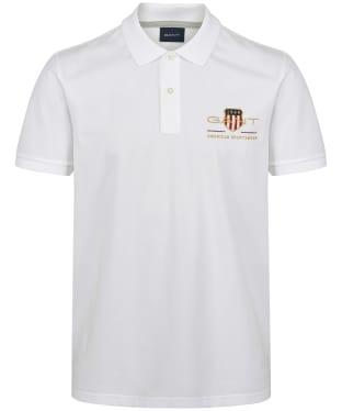 Men's GANT Archive Shield Pique Polo Shirt - White