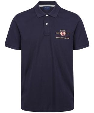 Men's GANT Archive Shield Pique Polo Shirt - Evening Blue
