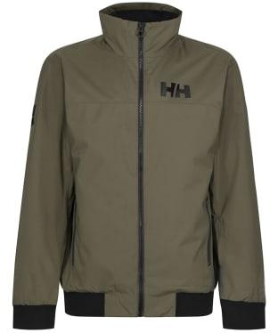 Men's Helly Hansen HP Racing Lifaloft Waterproof Bomber Jacket - Utility Green