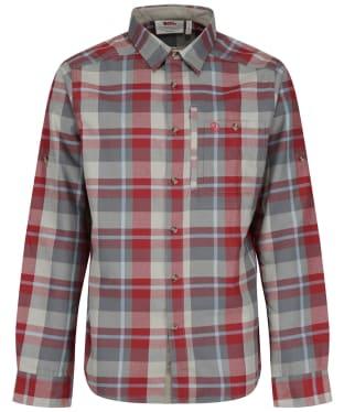 Men's Fjallraven Fjallglim Long Sleeve Shirt - Red Oak/Basalt