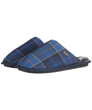 Men's Barbour Young Mule Slippers - Midnight Tartan