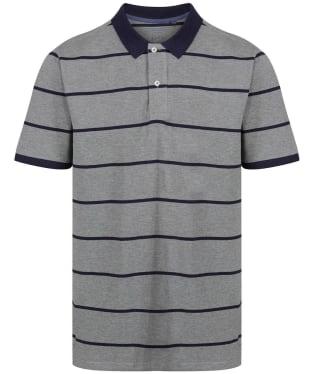Men's Joules Filbert Polo Shirt - Grey/Navy Stripe