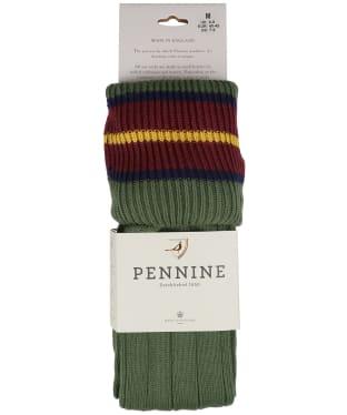 Pennine Nelson Cotton Socks - Moss