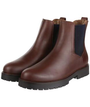 Women's Fairfax & Favor Sheepskin Boudica Ankle Boot - Mahogany Leather