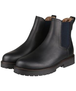 Women's Fairfax & Favor Sheepskin Boudica Ankle Boot - Black Leather