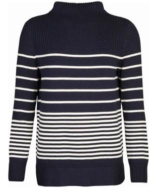 Women's Barbour Stripe Guernsey Knit Sweater - Navy Stripe