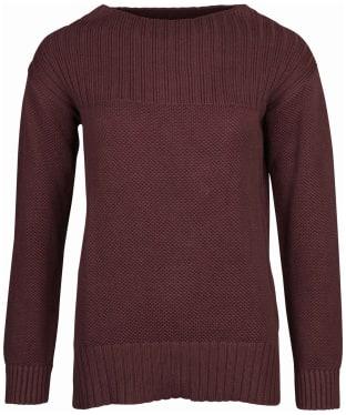 Women's Barbour Stitch Guernsey Knit Sweater - Java