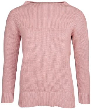 Women's Barbour Stitch Guernsey Knit Sweater - Rose Blush