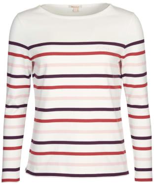 Women's Barbour Hawkins Top - Pristine Stripe